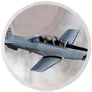 An Iraqi Air Force T-6 Texan Trainer Round Beach Towel