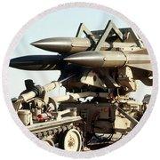 An Mim-23b Hawk Surface-to-air Missile Round Beach Towel