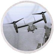 An Mv-22b Osprey Takes Round Beach Towel
