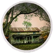 An Old Home Place Round Beach Towel