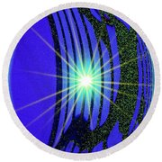 An Orb In Abstract 2 Round Beach Towel