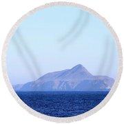Anacapa Island Round Beach Towel