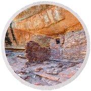Anasazi Indian Ruin - Cedar Mesa Round Beach Towel