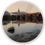Ancient Bridge Round Beach Towel