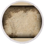 Ancient Christian Symbol Round Beach Towel