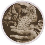 Ancient Cobra Round Beach Towel