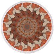 Ancient Wheel Of Time Round Beach Towel