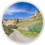 Andalucia Countryside In Spain Round Beach Towel