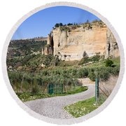Andalusia Countryside Round Beach Towel