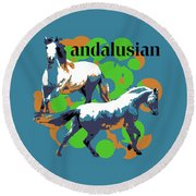Andalusian Round Beach Towel