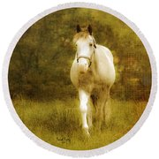 Andre On The Farm Round Beach Towel