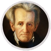 Andrew Jackson, 7th American President Round Beach Towel