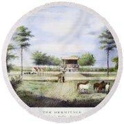 Andrew Jackson: Hermitage Round Beach Towel