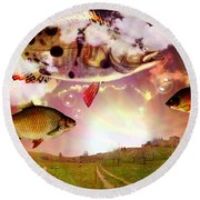 Angel Fish Round Beach Towel