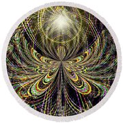 Angel In The Midst Round Beach Towel