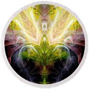 Angel Of Abundance Round Beach Towel
