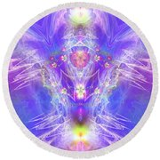 Angel Of Ascension Round Beach Towel