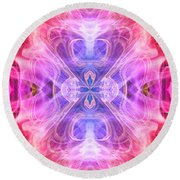 Angel Of Compassion Round Beach Towel