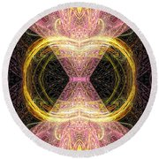 Angel Of Groups And Gatherings Round Beach Towel