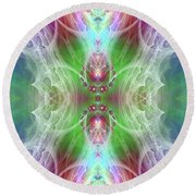 Angel Of The Faery Realm Round Beach Towel