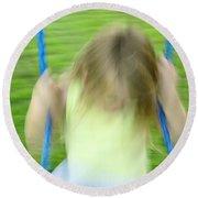 Angel Swing Round Beach Towel by Aimelle