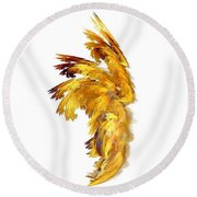 Angel Wings Round Beach Towel
