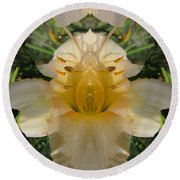 Angelic Lily Round Beach Towel