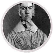Angelina Grimk�, American Abolitionist Round Beach Towel by Photo Researchers