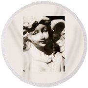 Angels Among Us Round Beach Towel