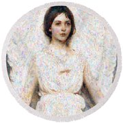 Angels In Our Midst Round Beach Towel
