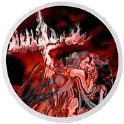 Angels Of Lust Round Beach Towel