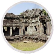Angkor Archaeological Park Round Beach Towel