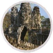 Angkor Archaeological Park II Round Beach Towel