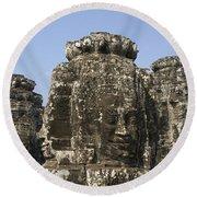 Angkor Thom IIi Round Beach Towel
