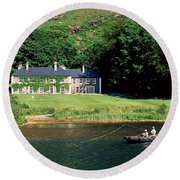 Angling, Delphi Lodge, Co Mayo, Ireland Round Beach Towel