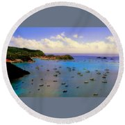 Anguilla's Softness Round Beach Towel