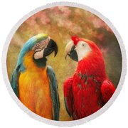 Animal - Parrot - We'll Always Have Parrots Round Beach Towel