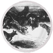Animals Sick Of The Plague Round Beach Towel