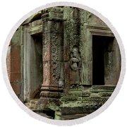 Ankor Wat Cambodia Round Beach Towel