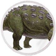 Ankylosaurus Magniventris Round Beach Towel