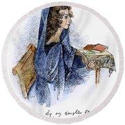 Ann Bronte (1820-1849) Round Beach Towel