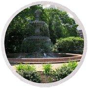 Annapolis Fountain Round Beach Towel