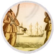 Anne Bonny And Mary Read, 18th Century Round Beach Towel