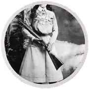 Annie Oakley (1860-1926) Round Beach Towel