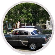 Another Classic Car Round Beach Towel