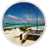 Another Day. Maldives Round Beach Towel