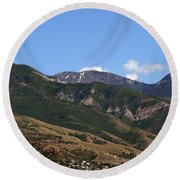 Another View Of Salt Lake City Round Beach Towel