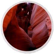 Antelope Canyon I Round Beach Towel