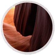 Antelope Canyon Living Rock Round Beach Towel