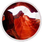 Antelope Canyon Skylight Round Beach Towel